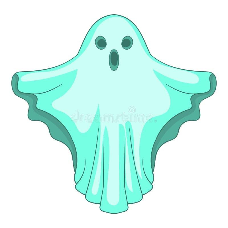 Icône de Ghost, style de bande dessinée illustration de vecteur