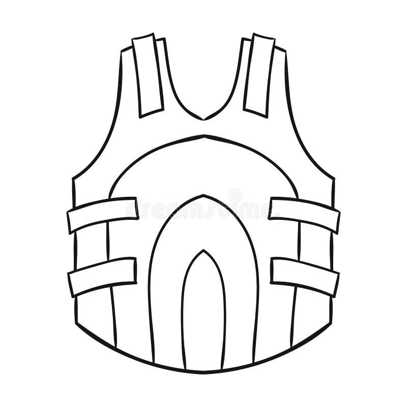 Icône de gilet de Paintball dans le style d'ensemble d'isolement sur le fond blanc Illustration de vecteur d'actions de symbole d illustration stock