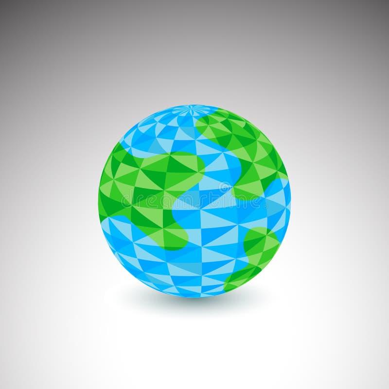 Icône de globe de polygone illustration de vecteur