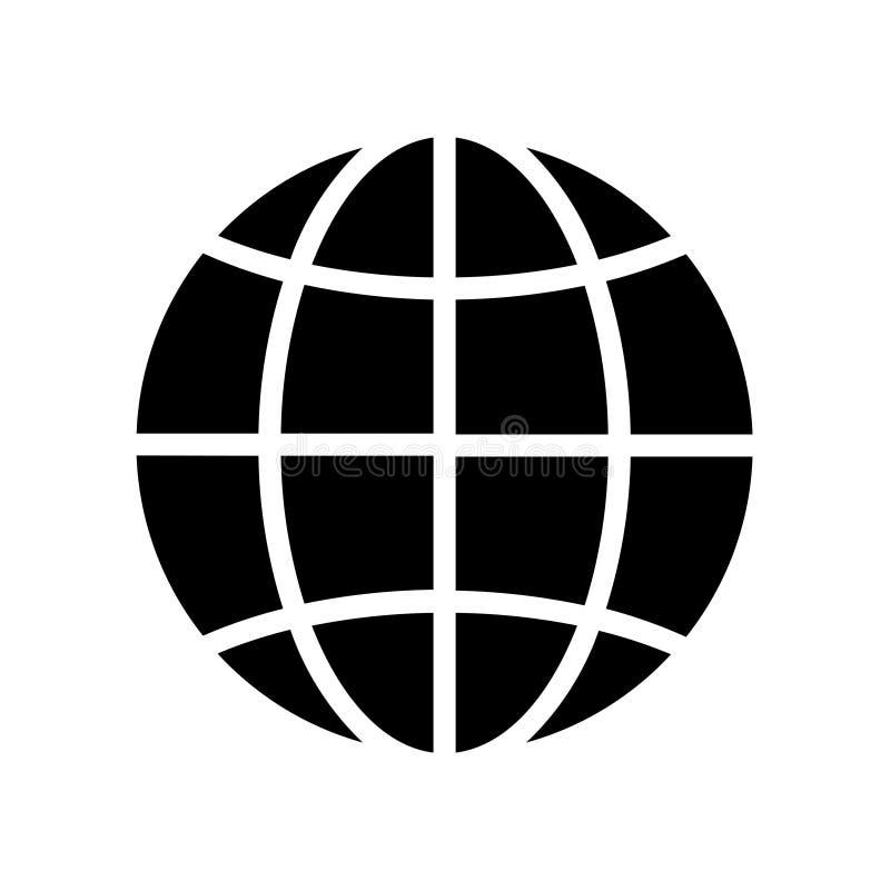 Ic?ne de globe illustration de vecteur