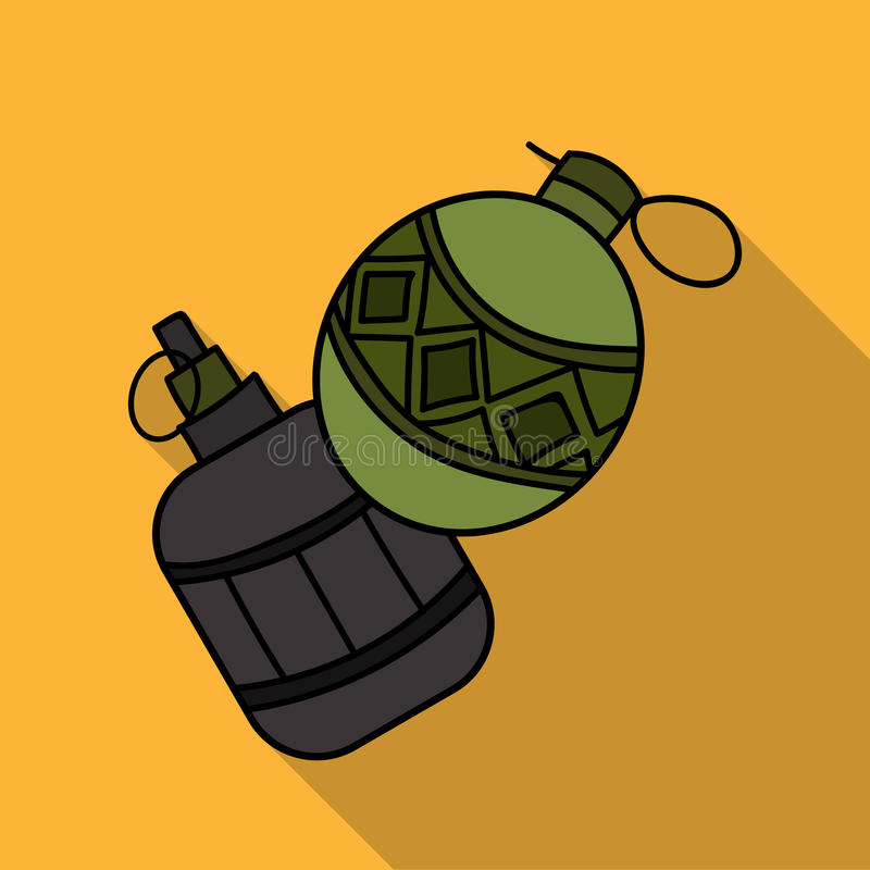 Icône de grenade à main de Paintball dans le style d'ensemble d'isolement sur le fond blanc Illustration de vecteur d'actions de  illustration libre de droits