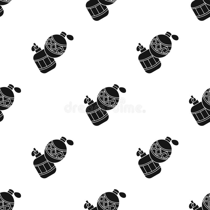 Icône de grenade à main de Paintball dans le style noir d'isolement sur le fond blanc Illustration de vecteur d'actions de symbol illustration de vecteur