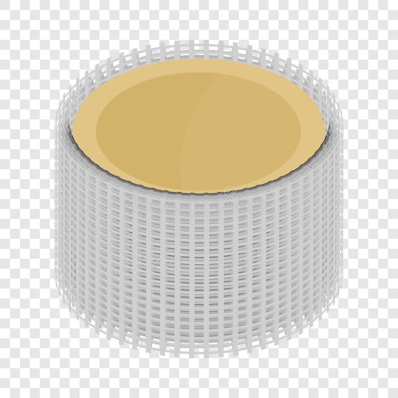 Ic?ne de grille en m?tal, style 3d isom?trique illustration de vecteur
