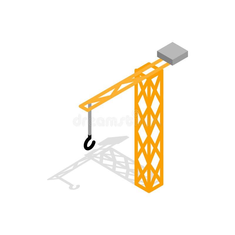 Icône de grue de construction, style 3d isométrique illustration de vecteur