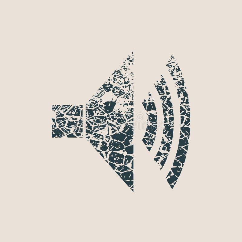 Icône de grunge de haut-parleur illustration stock