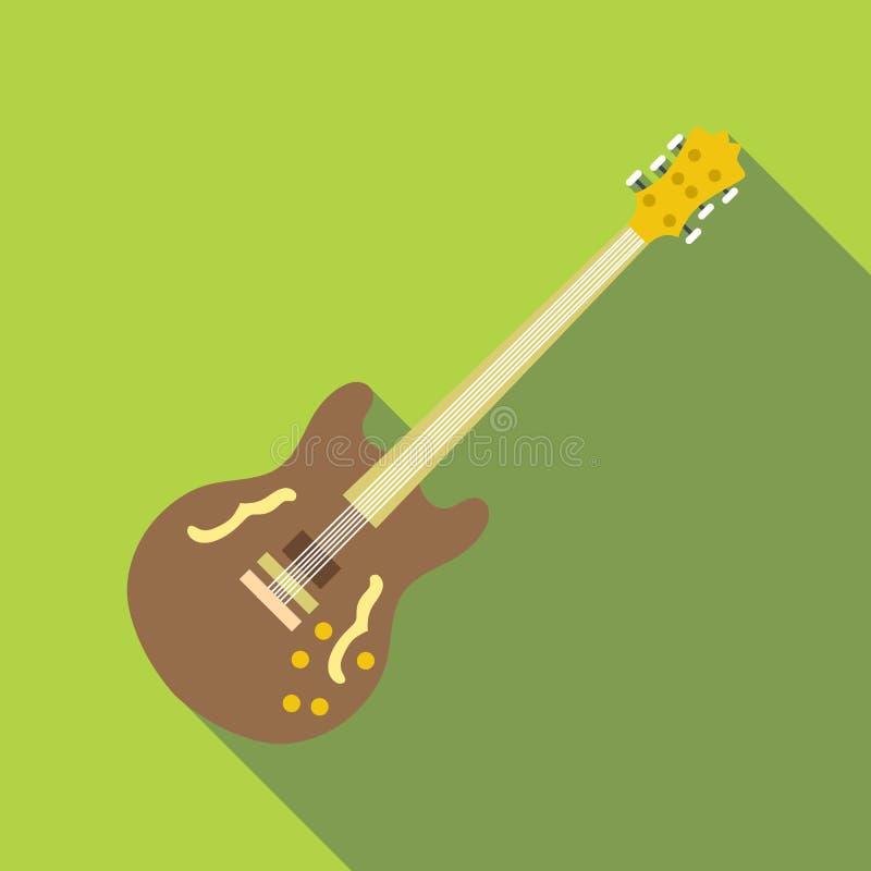 Icône de guitare électrique, style plat illustration stock