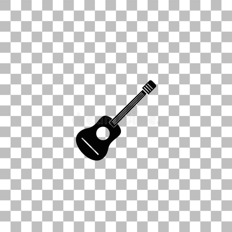 Ic?ne de guitare acoustique ? plat illustration stock