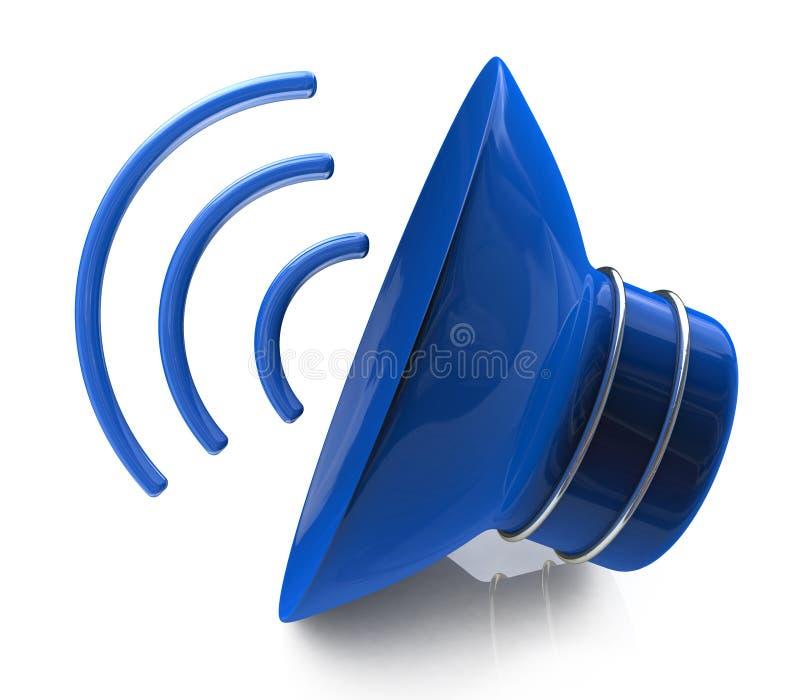Icône de haut-parleur illustration stock