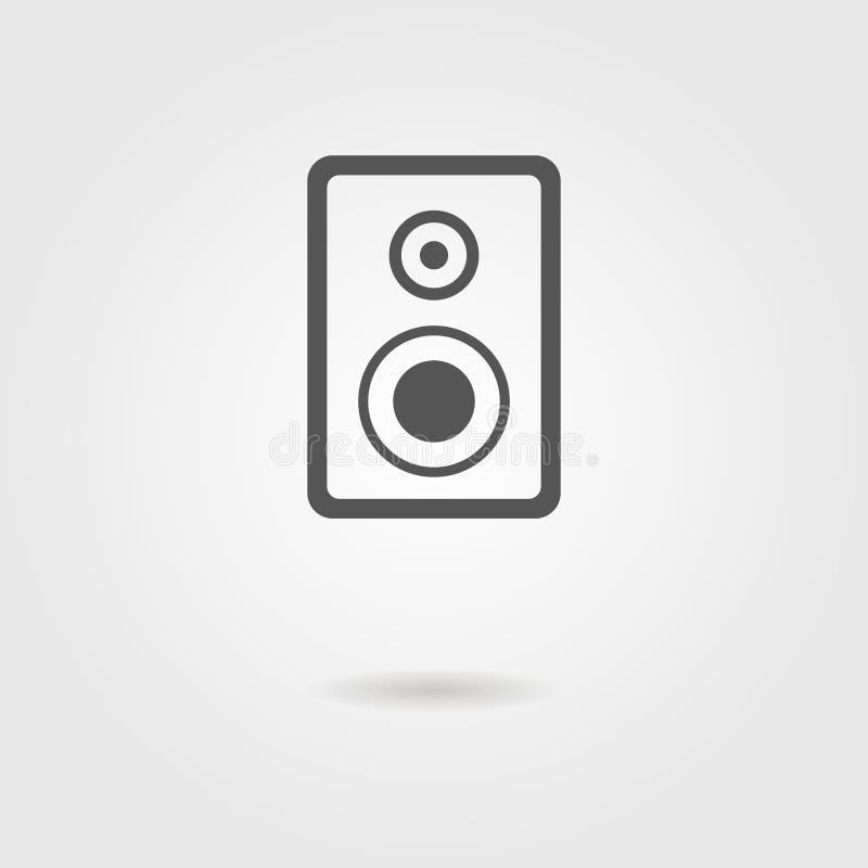 Icône de haut-parleur avec l'ombre illustration stock