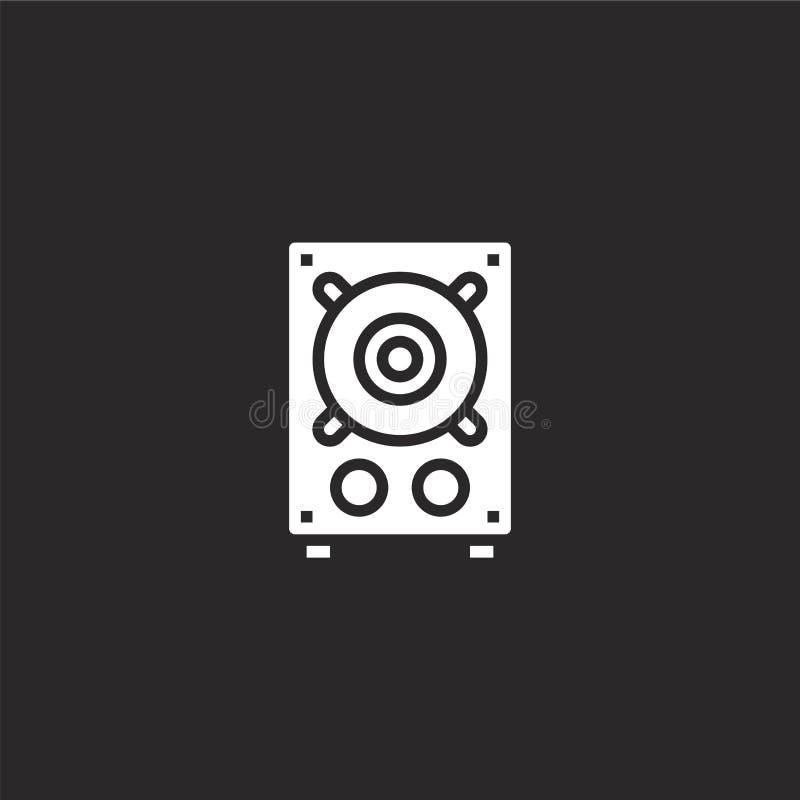 Ic?ne de haut-parleur Icône remplie de haut-parleur pour la conception de site Web et le mobile, développement d'appli icône de h illustration stock