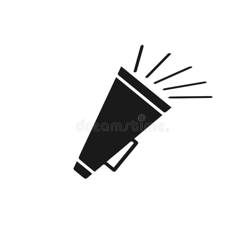 Icône de haut-parleur Ligne icône de signe d'annonce de vecteur Vecteur ENV 10 Ligne icône de signe de corne de brume illustration libre de droits