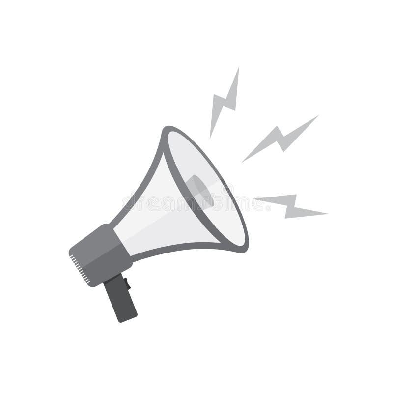 Icône de haut-parleur ou de mégaphone Illustration de vecteur illustration stock