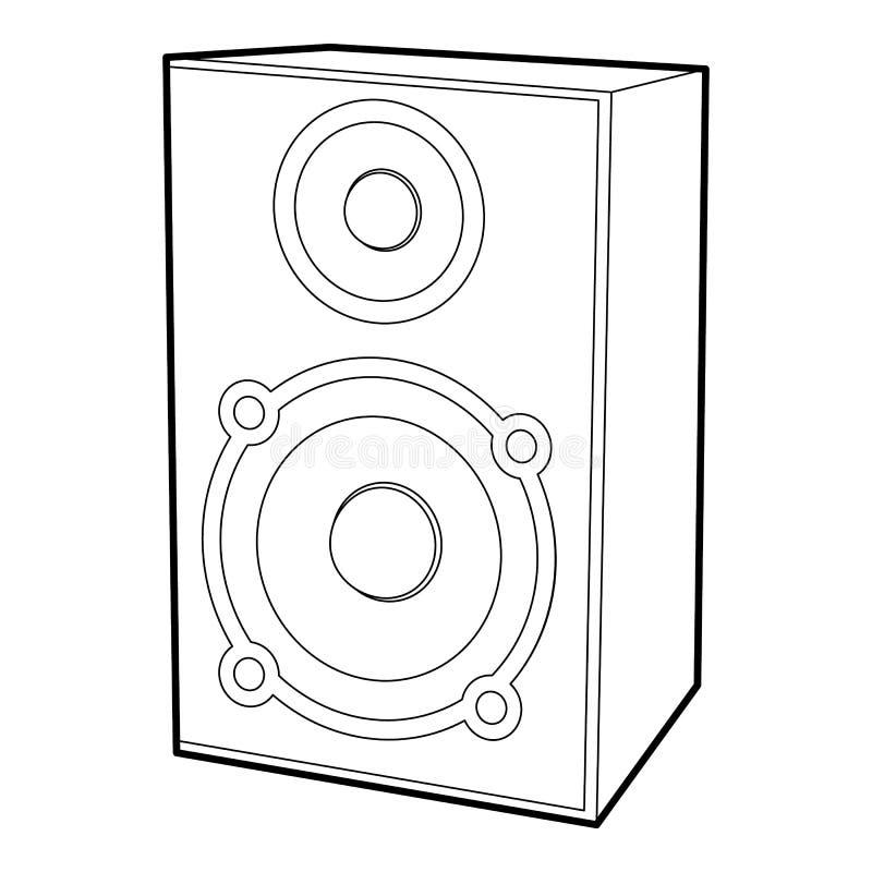 Icône de haut-parleur, style d'ensemble illustration libre de droits