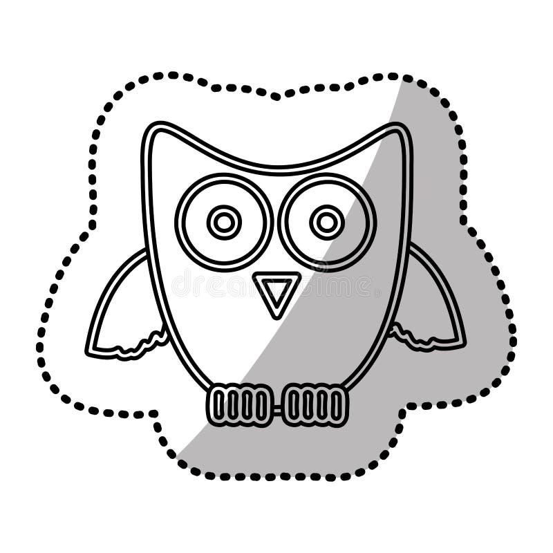 Download Icône De Hibou D'autocollant De Silhouette Illustration Stock - Illustration du chéri, mignon: 87706791