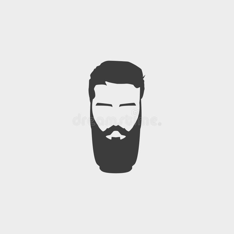 Icône de hippie dans une conception plate dans la couleur noire Illustration EPS10 de vecteur illustration de vecteur