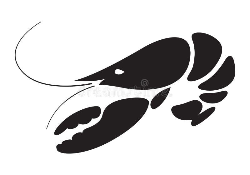 Icône de homard, vecteur illustration de vecteur