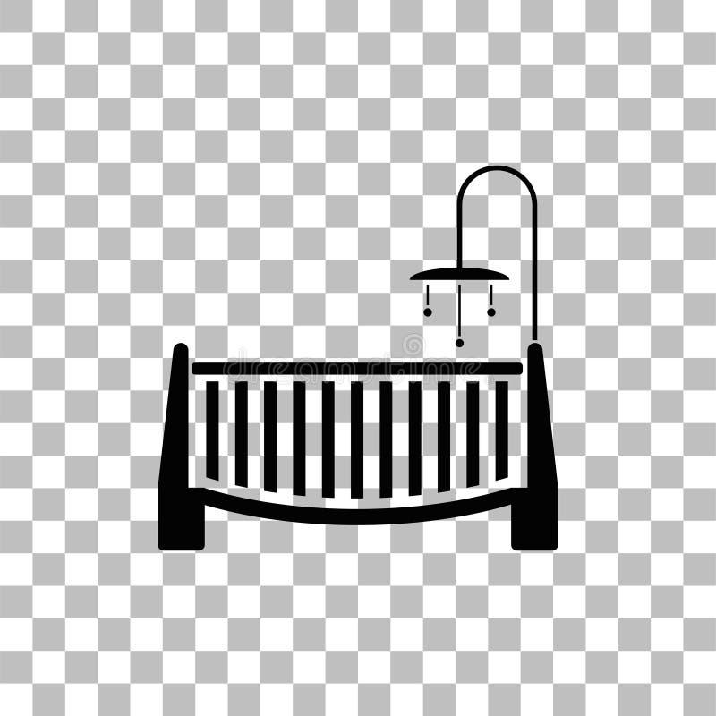 Ic?ne de huche de b?b? ? plat illustration de vecteur