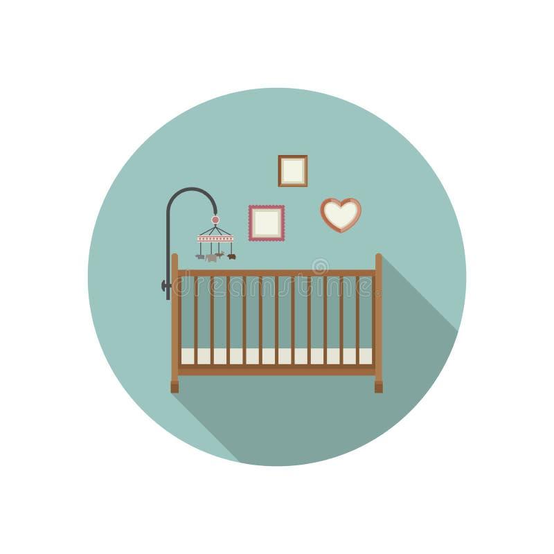 Icône de huche de bébé illustration libre de droits