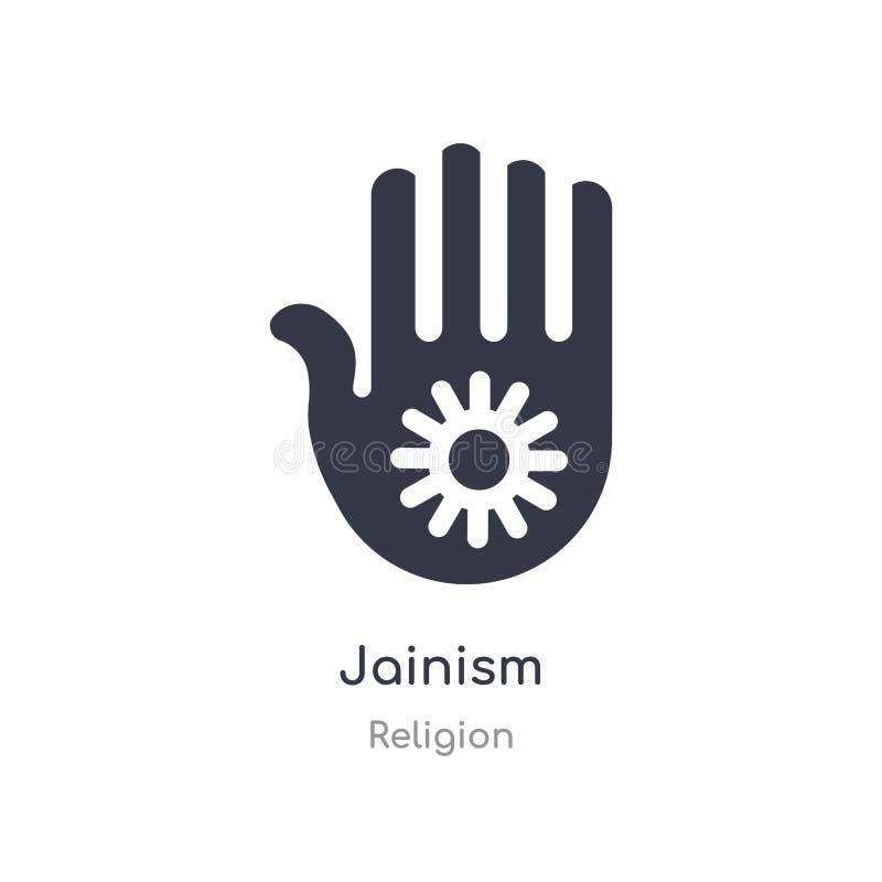 Ic?ne de ja?nisme illustration d'isolement de vecteur d'icône de jaïnisme de collection de religion editable chantez le symbole p illustration libre de droits