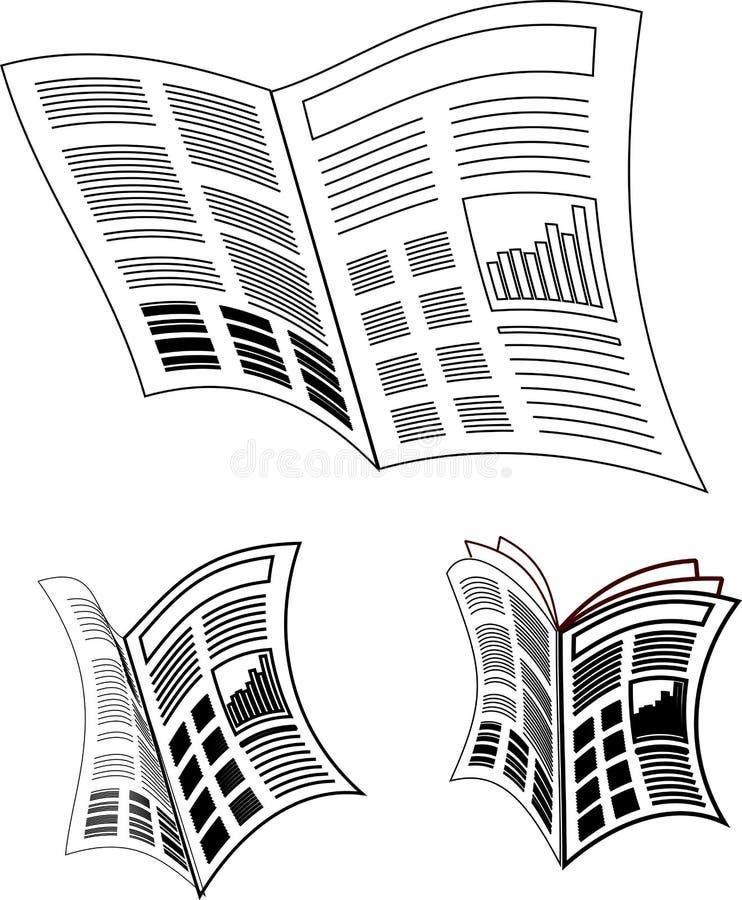 Icône de journal illustration de vecteur