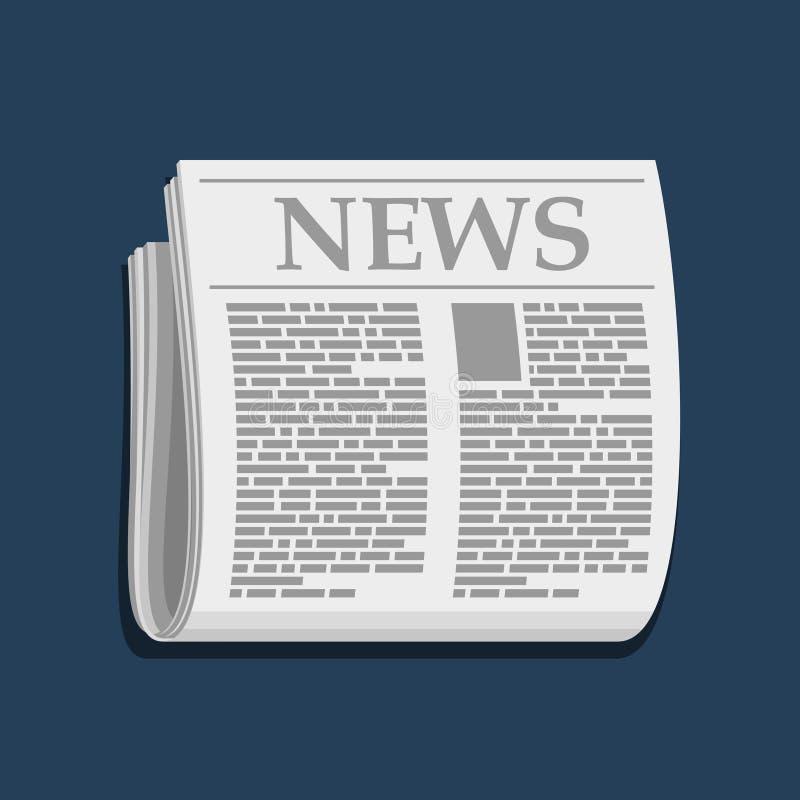 Icône de journal, informations commerciales Vecteur illustration de vecteur