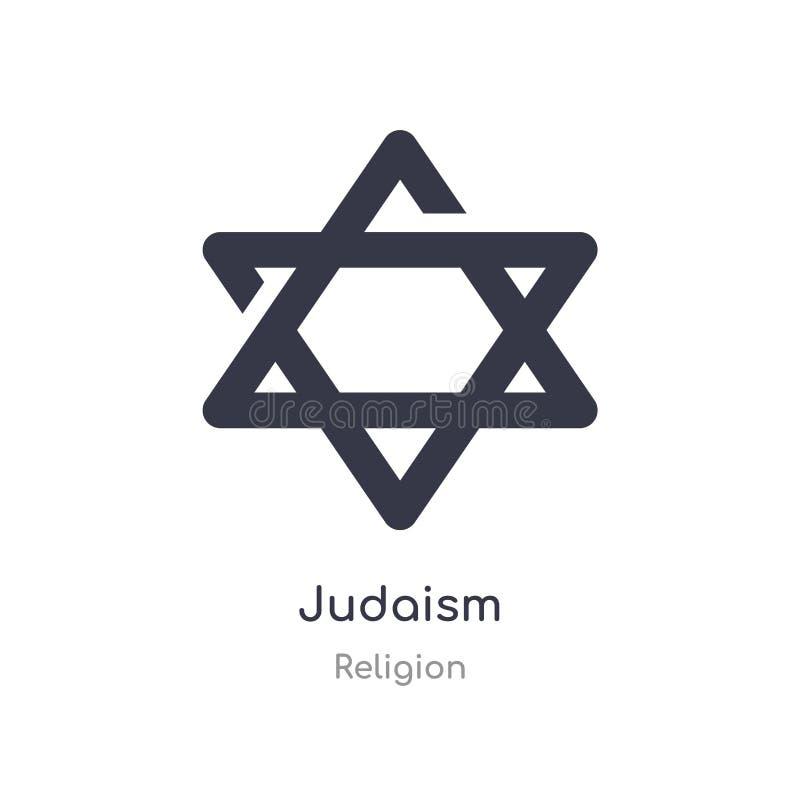 Ic?ne de juda?sme illustration d'isolement de vecteur d'icône de judaism de collection de religion editable chantez le symbole pe illustration de vecteur