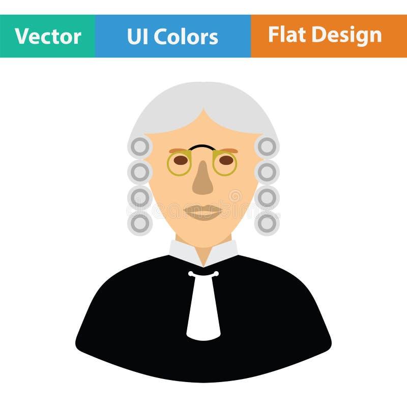 Icône de juge illustration stock