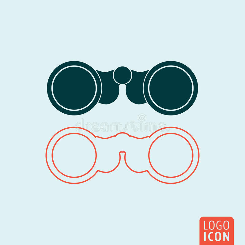 Icône de jumelles d'isolement illustration de vecteur