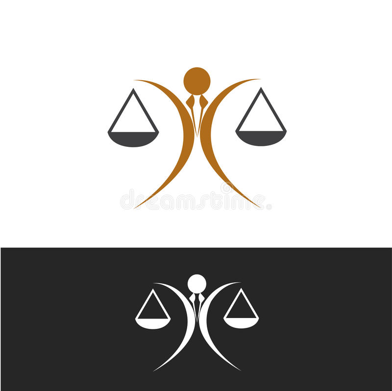 Icône de justice illustration libre de droits