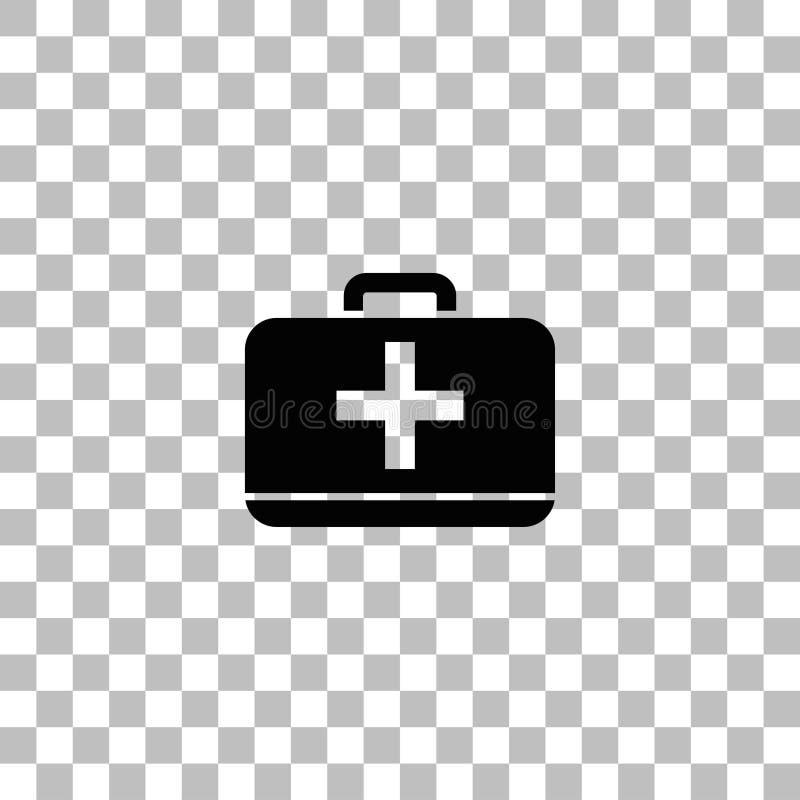 Ic?ne de kit de premiers secours plate illustration libre de droits