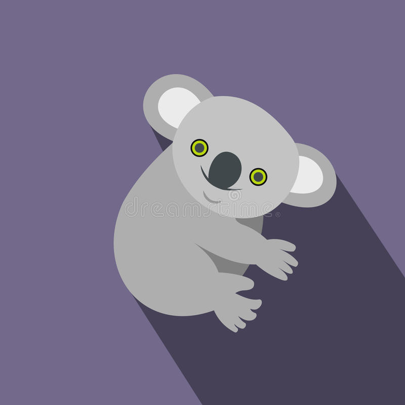 Icône de koala, style plat illustration libre de droits
