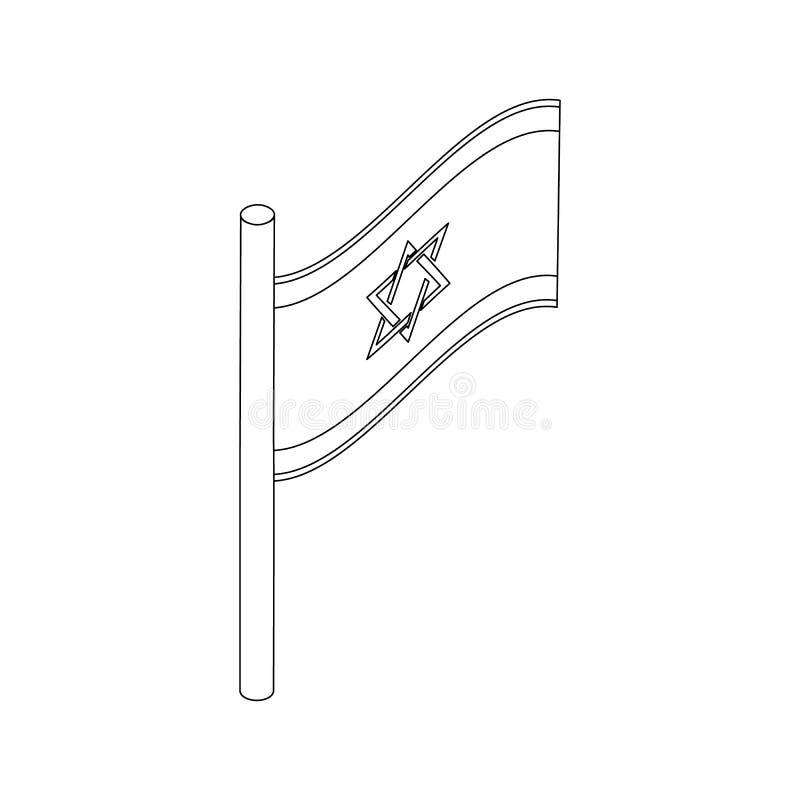 Icône de l'Israël de drapeau, 3d isométrique illustration de vecteur