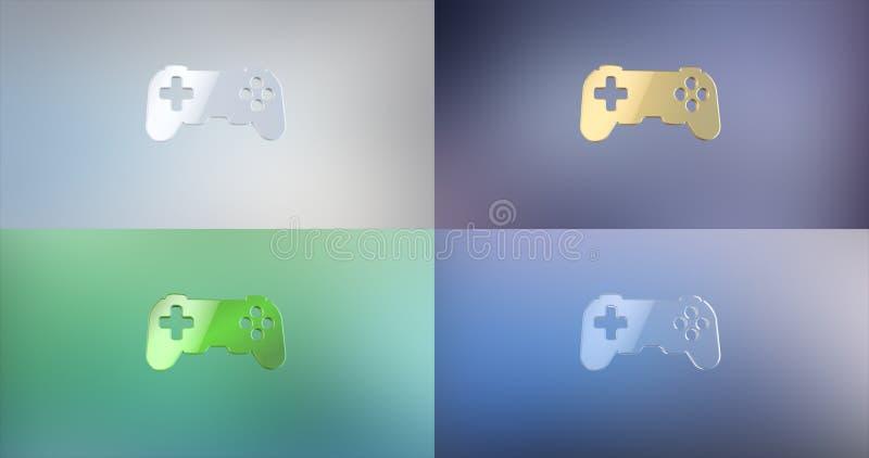 Icône de la console 3d de jeu images libres de droits