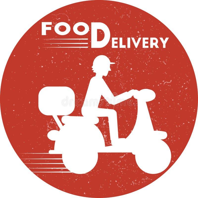 Icône de la livraison de nourriture Illustration minimale plate de vecteur pour le Web ou la copie illustration stock