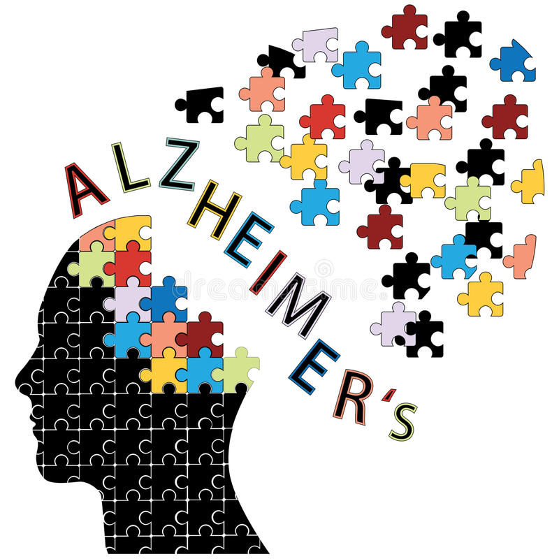 Icône de la maladie d'Alzheimers illustration de vecteur