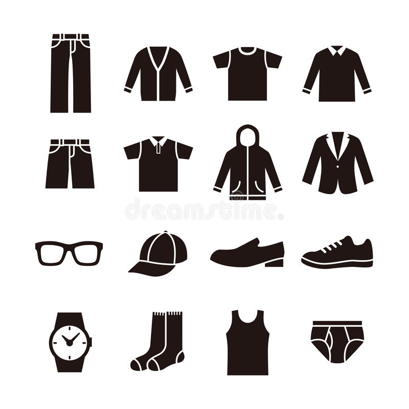 Icône de la mode des hommes illustration de vecteur