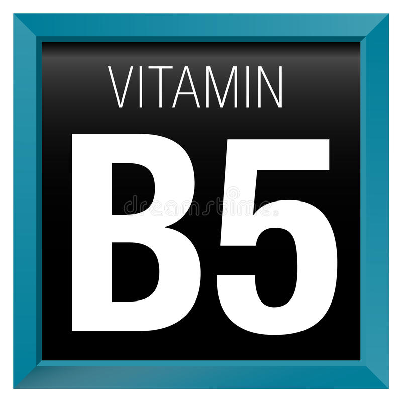 Icône de la VITAMINE B5 - chimie illustration stock