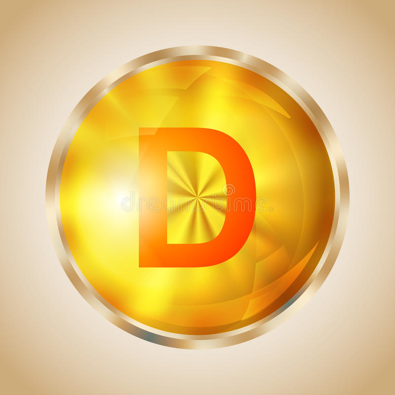Icône de la vitamine D illustration stock