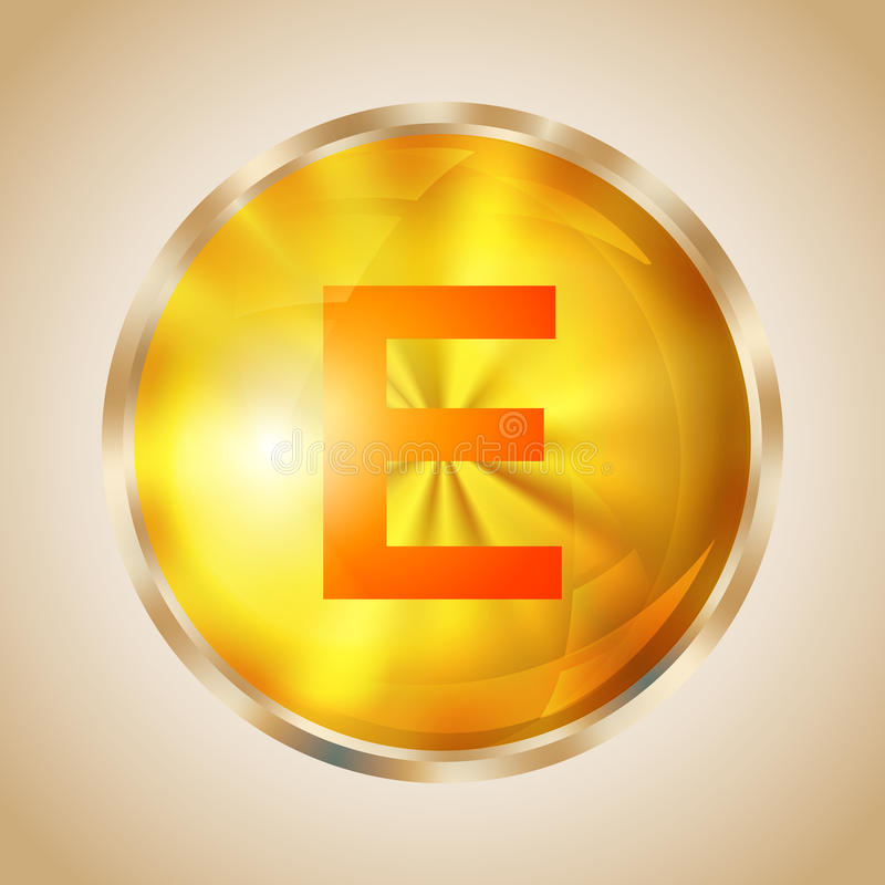 Icône de la vitamine E illustration libre de droits