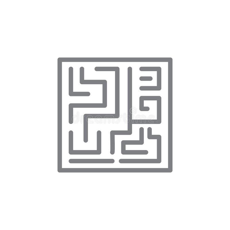 Ic?ne de labyrinthe ?l?ment d'ic?ne de myphology Ligne mince ic?ne pour la conception de site Web et le d?veloppement, d?veloppem illustration de vecteur
