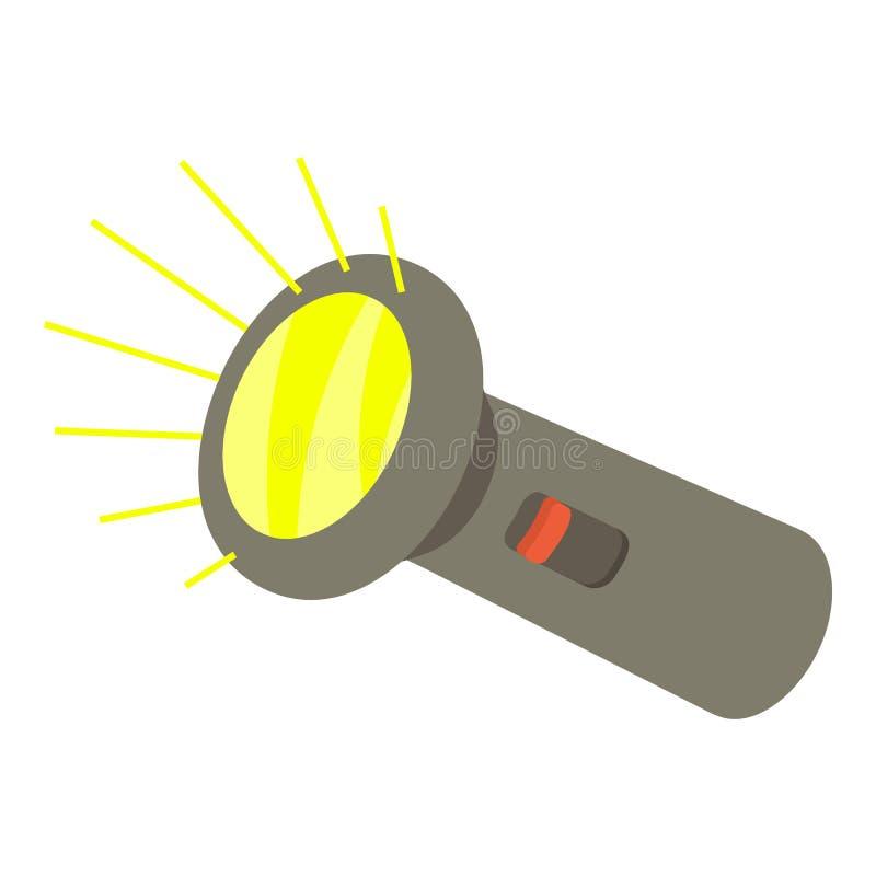 Icône de lampe-torche, style 3d isométrique illustration stock