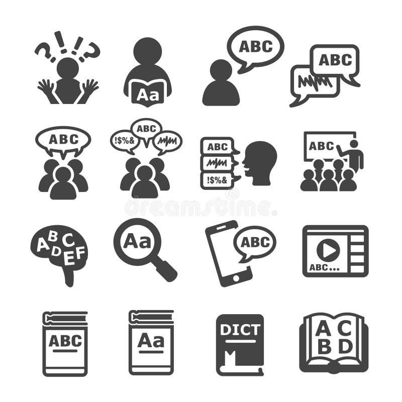 Icône de langue illustration de vecteur