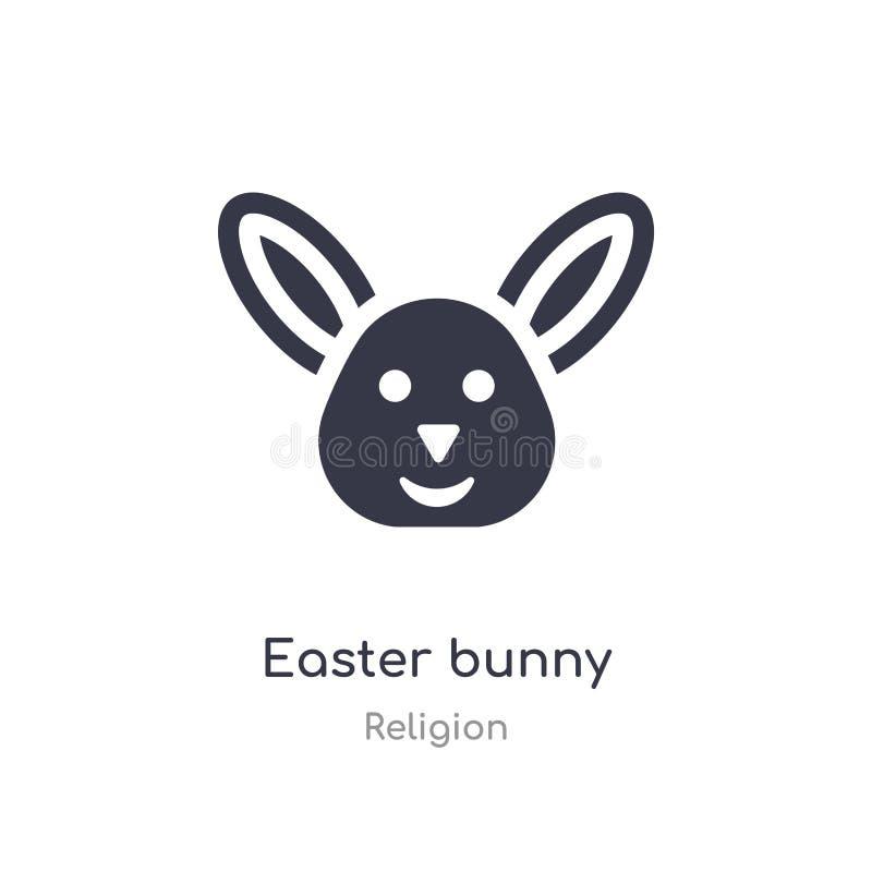 Ic?ne de lapin de P?ques illustration d'isolement de vecteur d'icône de lapin de Pâques de collection de religion editable chante illustration libre de droits
