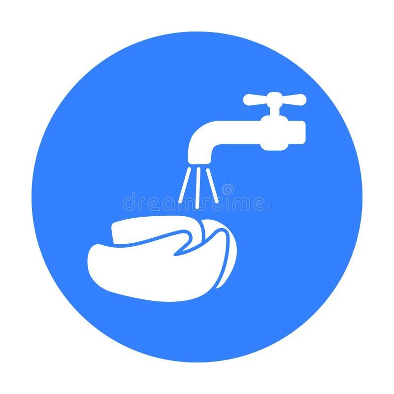 Icône de lavage de mains Choisissez l'icône en difficulté de la grande défectuosité, la maladie illustration stock