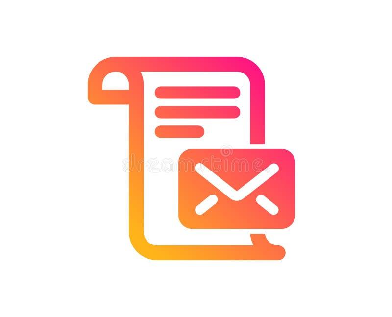 Ic?ne de lettre de courrier Lisez le signe de correspondance de message Vecteur illustration de vecteur