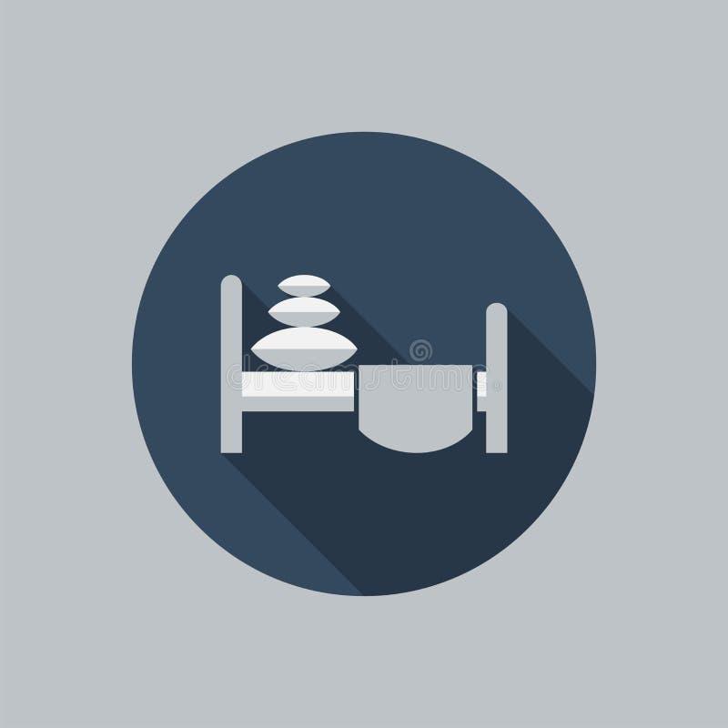 Icône de lit illustration de vecteur