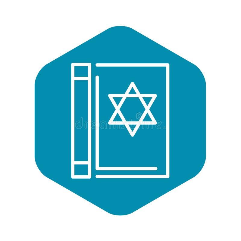 Ic?ne de livre de Torah, style d'ensemble illustration stock