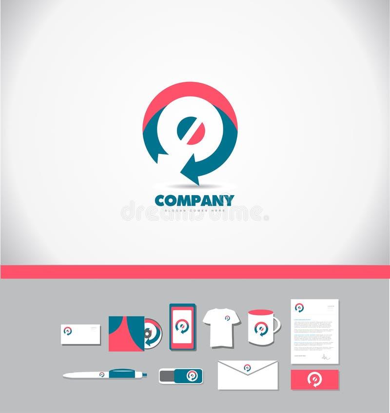 Icône de logo de flèche de cercle illustration libre de droits