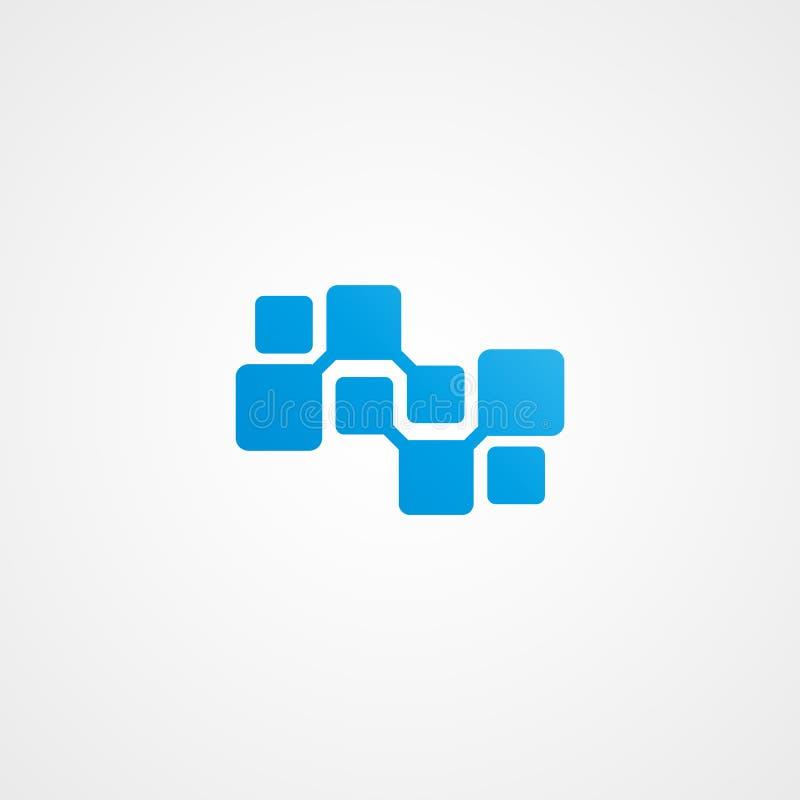 Icône de logo de neurone illustration de vecteur