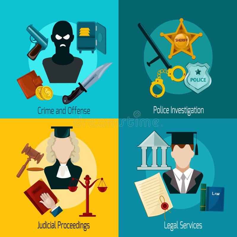 Icône de loi plate illustration libre de droits